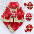New Year Traditional Chinese Tang Suit Baby Boy Girl Dragon Print spring Fleece Hanfu Birthday Gift