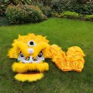 Funny Lion dance For Kid Single  5-10 age yellow pure wool Costume Party Festival christams