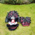 Funny Lion dance For Kid Single  5-10 age Black pure wool Costume Party Festival christams