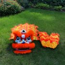 Funny Lion dance For Kid Single  5-10 age Orange pure wool Costume Party Festival christams