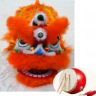6-9 age Classic Kid Lion Dance Drum  Festival Funny Fancy Costume 14inch Cartoon Props Play Parade
