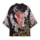 Kimono Man Japanese Clothes Yukata Male Samurai Costume Haori Obi Beach Men's Kimono Cardigan