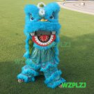 Blue 14inch Lion Dance Costume Royal 5-12 Age Children Party Halloween Outdoor Party Festival