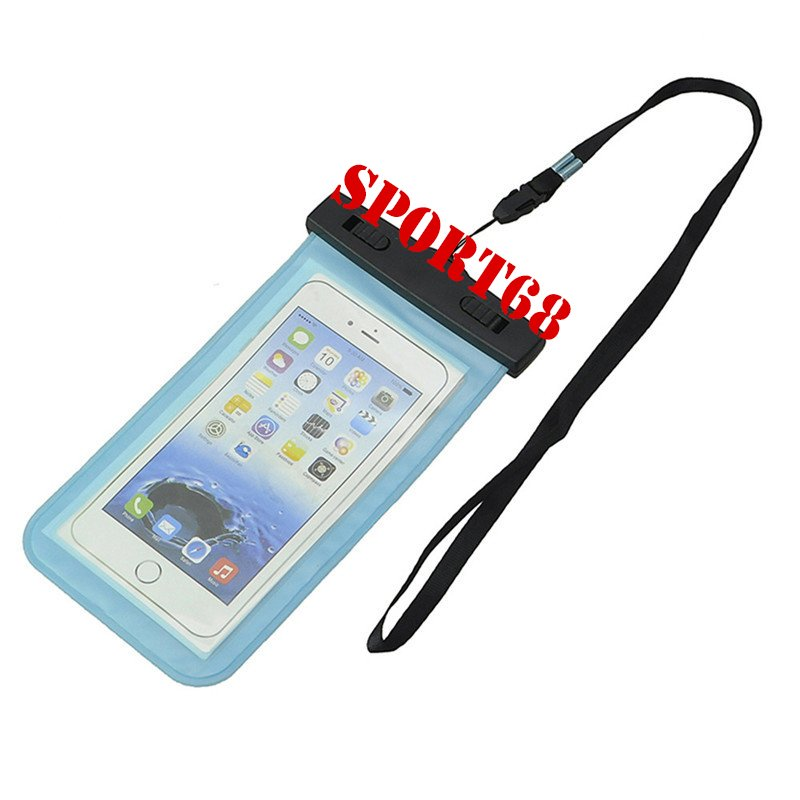 """Waterproof Case Universal Pouch for Outdoor Activities for Devices up to 6.0"""" [2-PACK] - Aqua"""