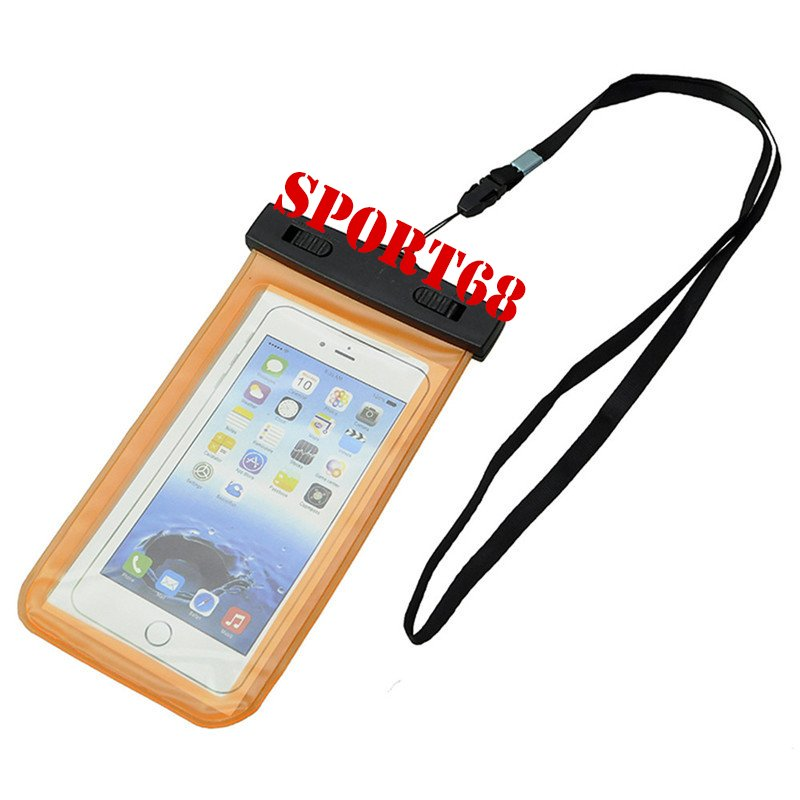 """Waterproof Case Universal Pouch for Outdoor Activities for Devices up to 6.0"""" [2-PACK] - Orange"""