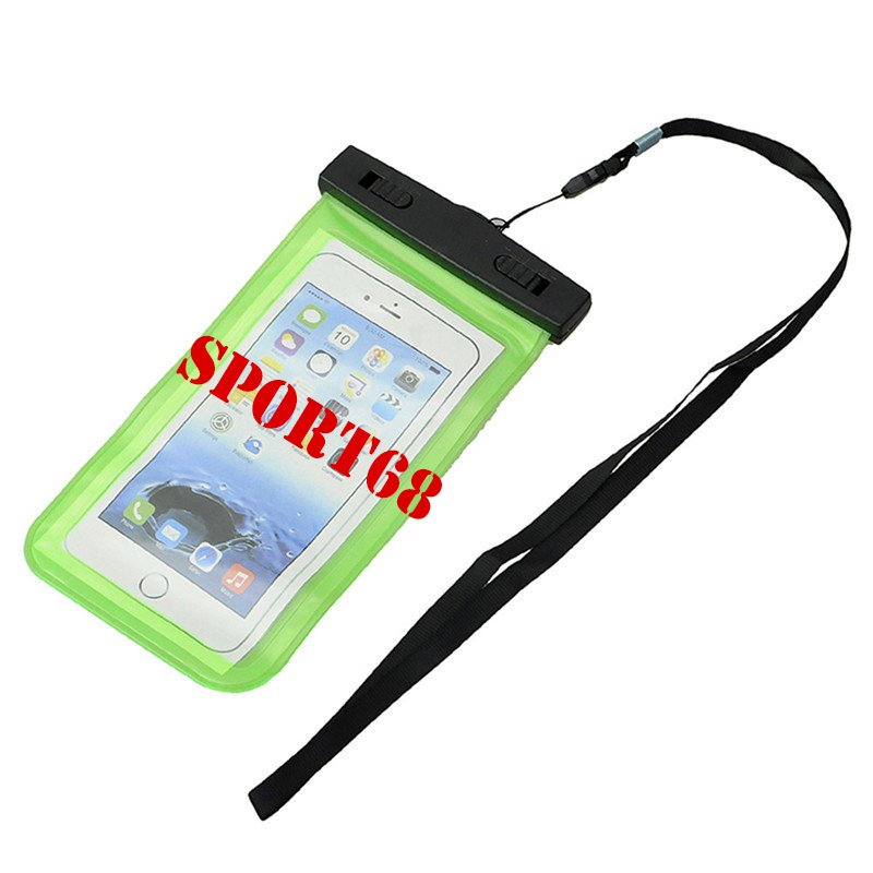 """Waterproof Case Universal Pouch for Outdoor Activities for Devices up to 6.0"""" [2-PACK] - Green"""