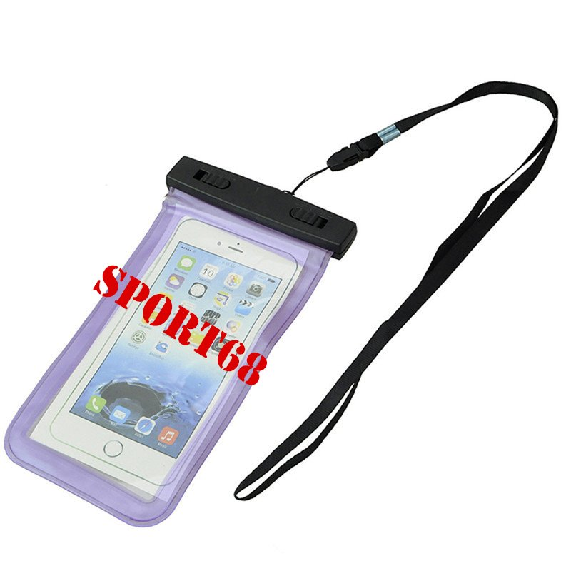 """Waterproof Case Universal Pouch for Outdoor Activities for Devices up to 6.0"""" [2-PACK] - Purple"""
