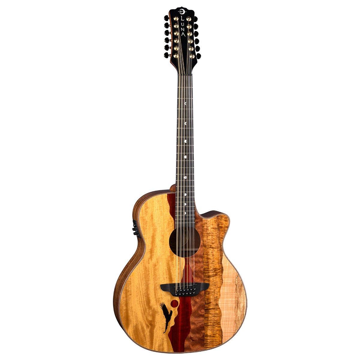 Luna Vista Eagle Acoustic/Electric 12 String Guitar w/Case