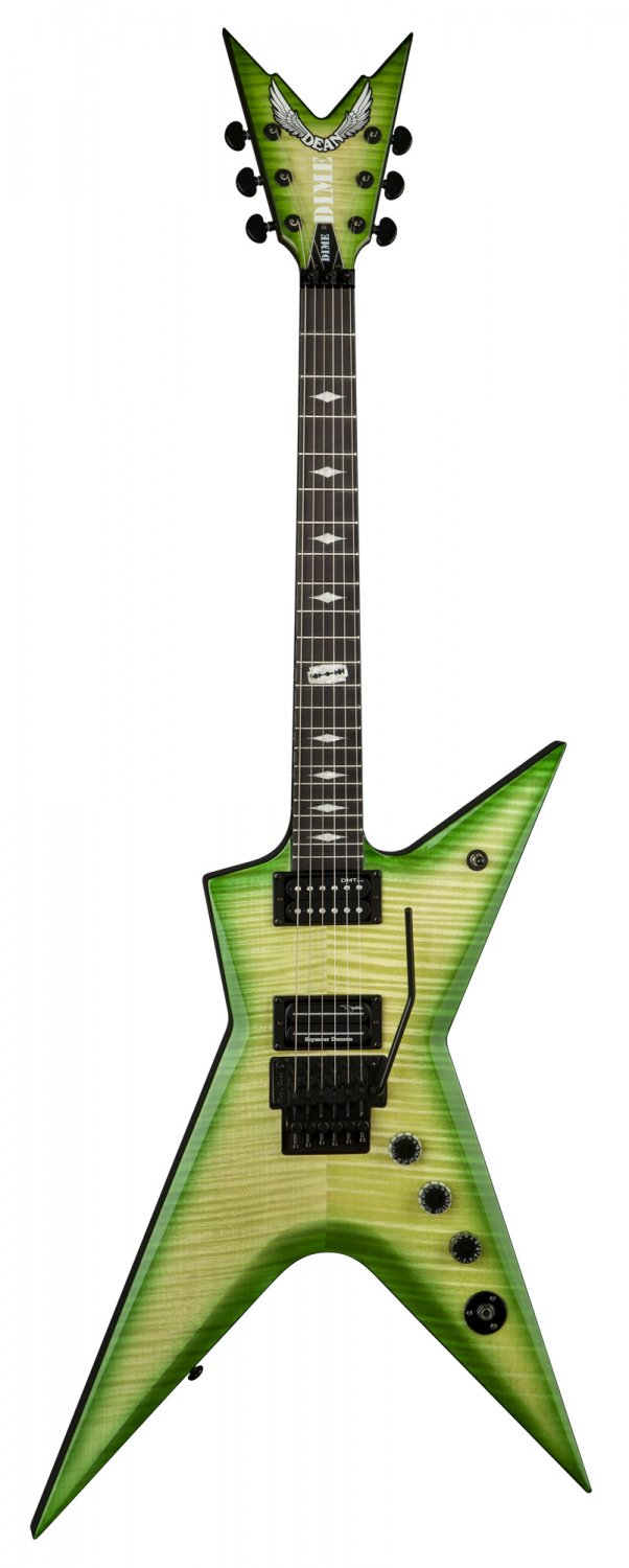 Dean Stealth Floyd FM - Dime Slime with Case