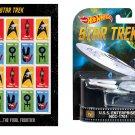 Star Trek Sheet of 20 USPS Stamps and U.S.S. Enterprise 50th Anniv model.
