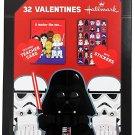 Hallmark Star Wars 32 Valentines Cards. Darth Vader Cover, Teacher Card/Stickers