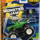Hot Wheels Monster Jam Jurassic Attack 5/10. 2017 Team Flag Series. Green