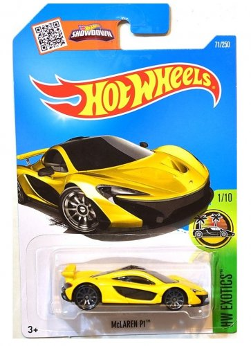 Hot Wheels 2016 HW Exotics McLaren P1 Yellow