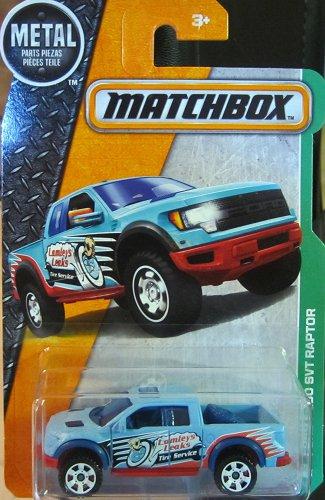 Matchbox 2016 MBX Explorers Ford F-150 SVT Raptor 117/125, Light Blue