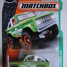 Matchbox 2016 Ford Bronco 4x4 Green. 1:64 Scale diecast.