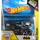 Hot Wheels Monster Jam, Batman with Track Ace Tires and Monster Jam Figure.