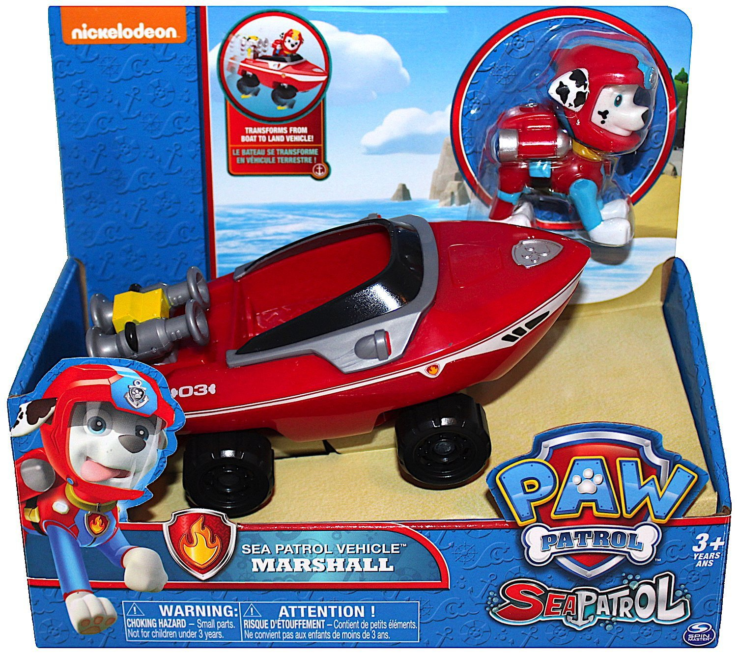 Nickelodeon Paw Patrol Marshall Sea Patrol Vehicle with Figure
