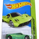 Hot Wheels 2014 HW Workshop Pagani Huayra Green