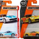 Matchbox Fire & Police Heroic Pack '15 Corvette Stingray Polizei  64 & Fire Rescue Car 63