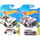 Hot Wheels 2017 Ford Focus RS Koni in White and  ZAMAC. SET OF 2