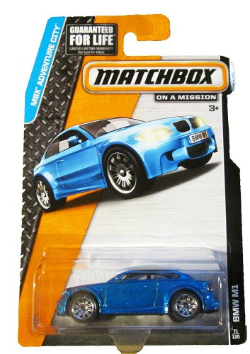 Matchbox Adventure City 71/120. BMW M1 (blue)