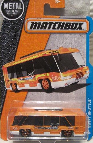 Matchbox 2016. Swift Shuttle. Airport Shuttle Bus 6/125, Orange