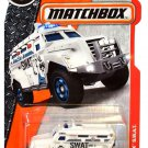 Matchbox 2016 MBX S.W.A.T Armored Police Truck 69/125, White