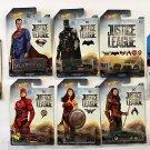 Hot Wheels 2017 Complete Justice League Set with Batmobile vehicle. 8 pack bundle