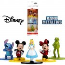 "Disney Diecast Nano Metal Figures with Mickey & Minnie Mouse by Jada 1.5"""