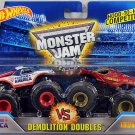 Hot Wheels Monster Jam Demolition Doubles. Captain America vs Iron Man