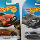 Hot Wheels 2017. '17 Nissan GT-R (R35) Orange and Gray bundle.