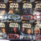 Hot Wheels 2017 Star Wars Exclusive set of 8. 1:64 Scale