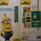 Minions Valentines with Pencils . 16 count.