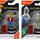 Futurama Mega Construx Heroes. Fry and Bender minifigures.
