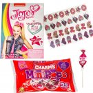 JoJo Siwa 32 Valentine Cards With Glitter Tattoos and Charms Lollipops