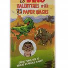 Dino Valentines and Masks. 16 Valentines and 16 Paper Masks