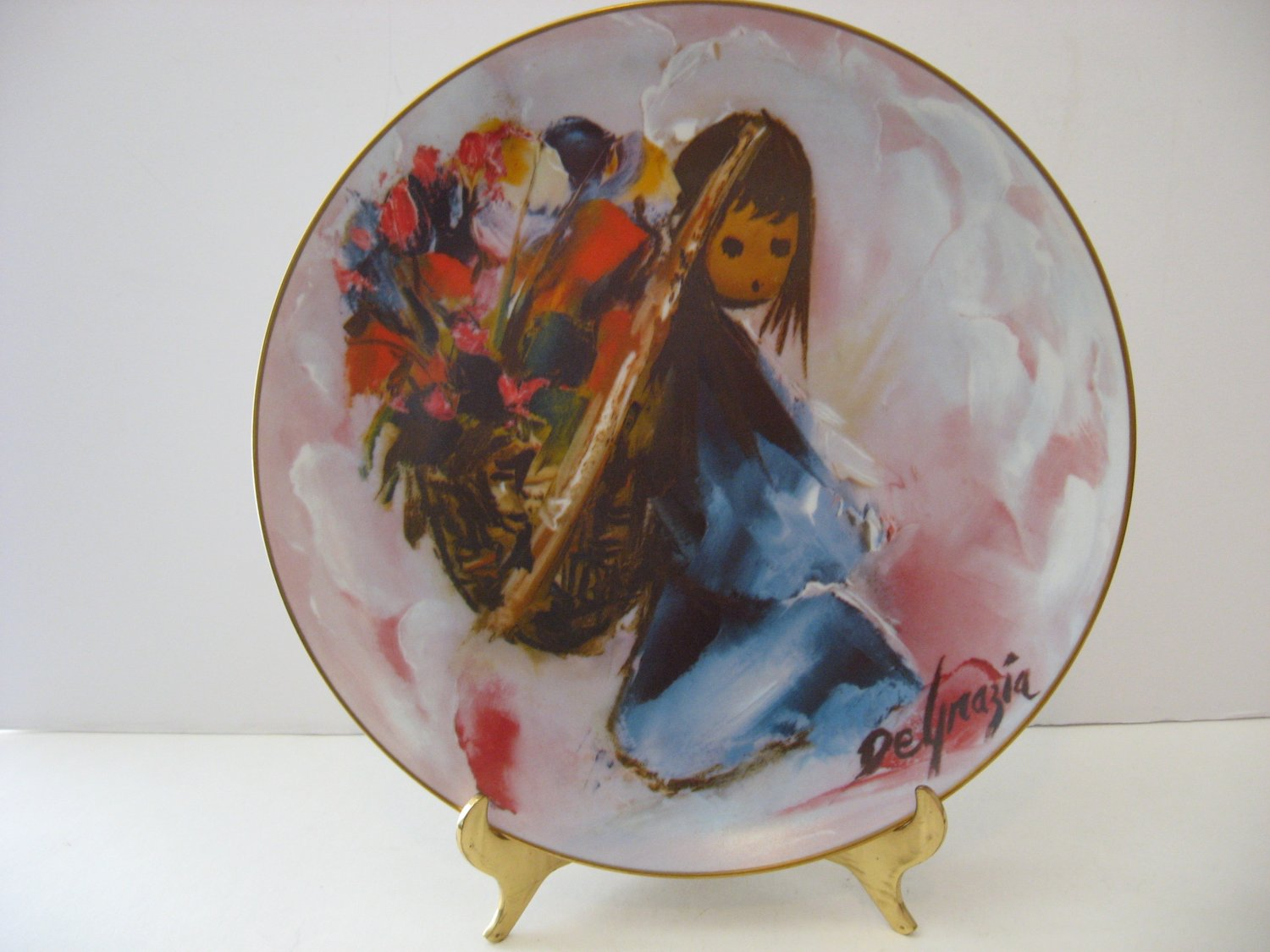 "Vintage - DeGrazia Collector Plate - ""Beautiful Burden"" Circa 1980"