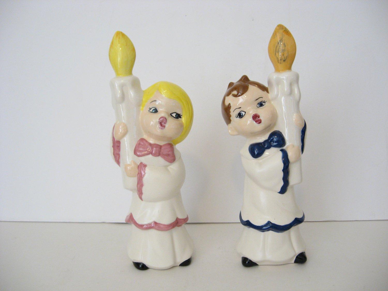 Vintage 1978 - Boy and Girl Christmas Caroleers