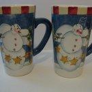 2 -  Large Coffee Mugs - Winter Buddies Design