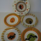 Just the Thing for Halloween 4 - Salad - Dessert Plates - Hand Painted!