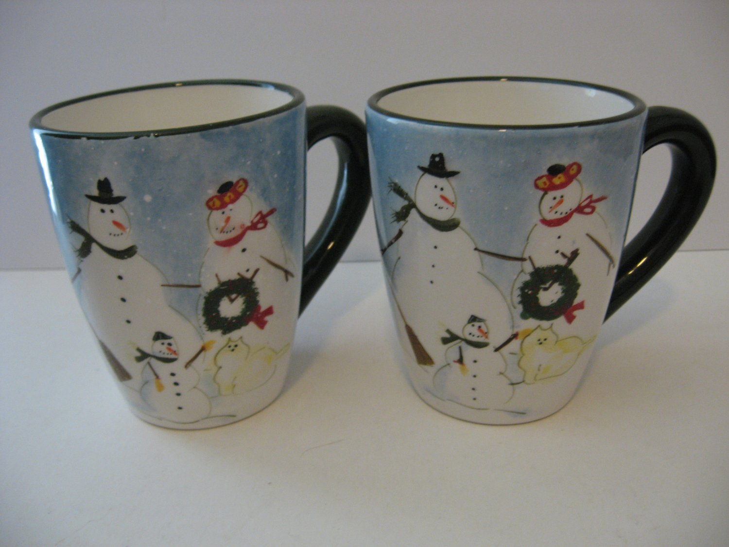 Snow Family Design - Large Coffee mugs - Set of 2