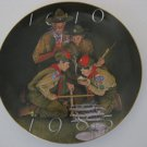"Vintage - Boy Scouts of America 75th Anniversary 7.5""Gold Rimmed Plate 1984"