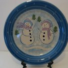 "Nice 10.5"" Christmas Snowman Cake Plate/Serving Tray"
