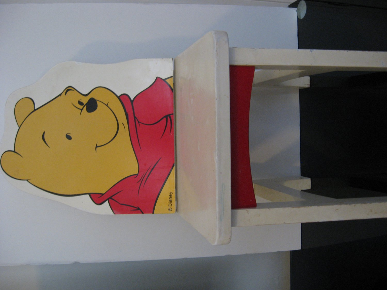 Vintage 1980's Disney Child's Chair - Winnie the Pooh - All Wood!