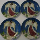 Vintage Christmas Angel Plates - Set of 4