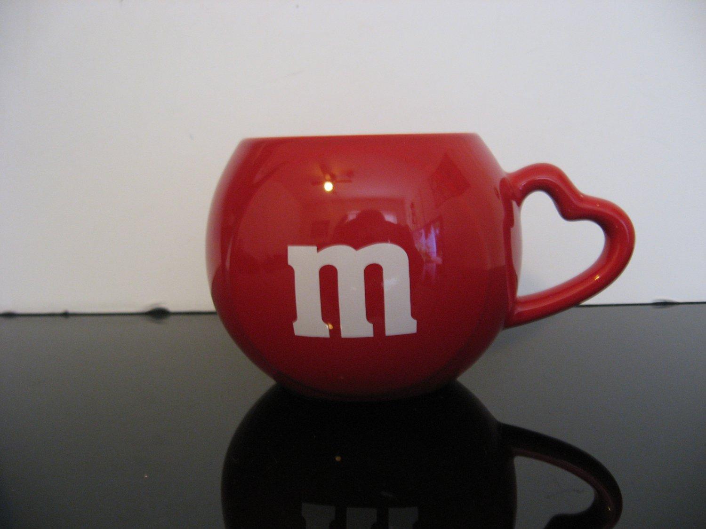 Valentine's - M&M Red Coffee Mug - Vase Heart Handle