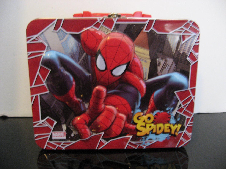 """Spiderman """"GO SPIDEY""""  Lunch Box Tin"""