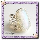 diy pdf tutorial Wire Wrapping Jewelry Opalite Lace Ring,silver,pattern,crystal