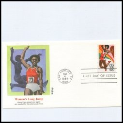 Women's Long Jump First Day of Issue 1984
