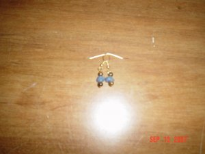 Tiger Eye and Blue Aventurine Earrings